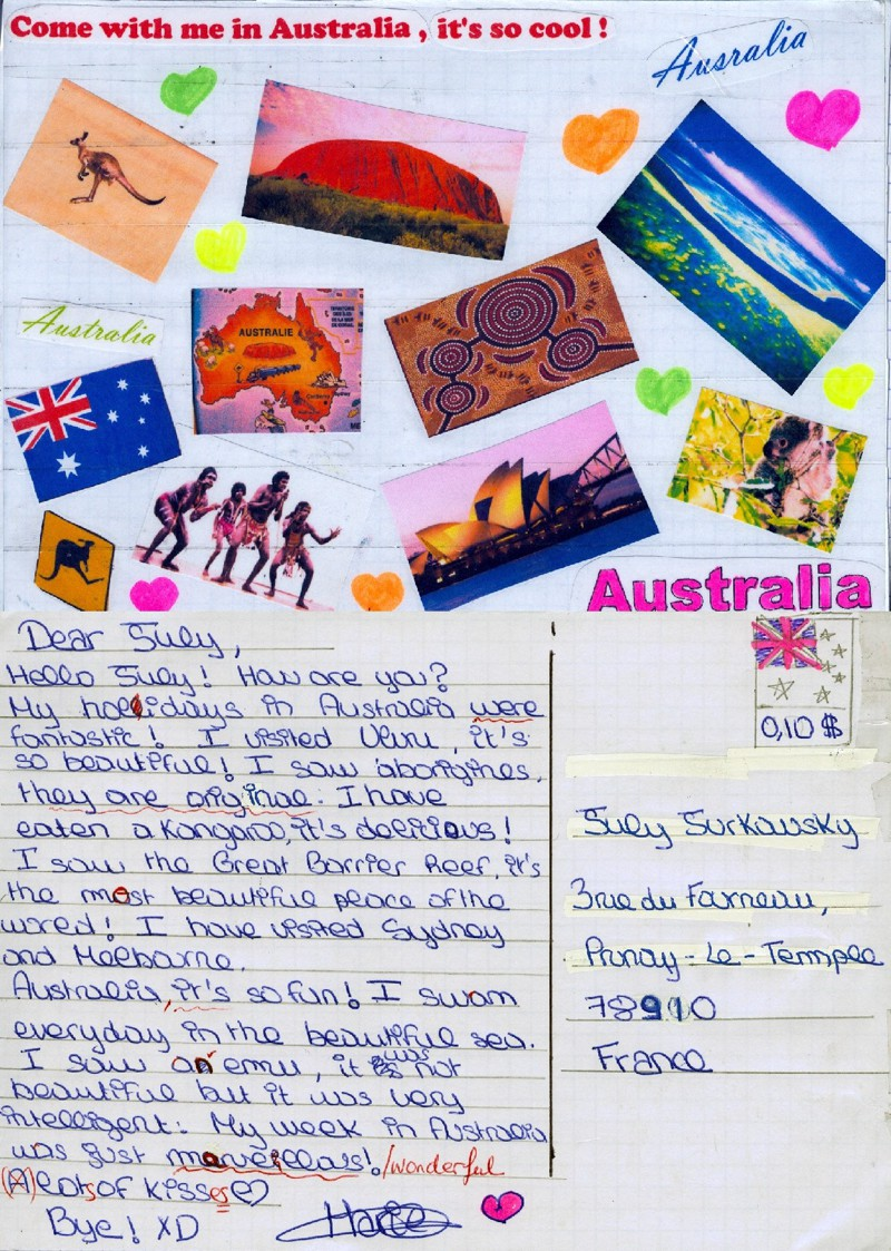 how to send postcards from australia